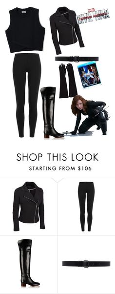 """""""black widow"""" by metilidoreen ❤ liked on Polyvore featuring Polo Ralph Lauren, Chloé, Ann Demeulemeester, contestentry, CaptainAmericaCivilWar and plus size clothing"""