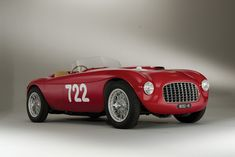 1948 Ferrari 166 Inter Spyder Corsa by Carrozzeria Fontana - The ninth Ferrari in chassis sequence, and the sixth 166 SC built. Luxury Sports Cars, Sport Cars, Race Cars, Ferrari Spider, Ferrari Car, Lamborghini, Maserati, Vintage Racing, Bowrider