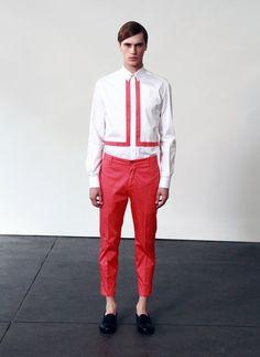 Farbtrends moderne Hosen Männer rote Hose