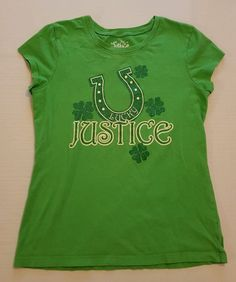 Justice Girls Green Shamrock Lucky Graphic Tee Size 12 St. Patty's Day #164 in Clothing, Shoes & Accessories, Kids' Clothing, Shoes & Accs, Girls' Clothing (Sizes 4 & Up)   eBay