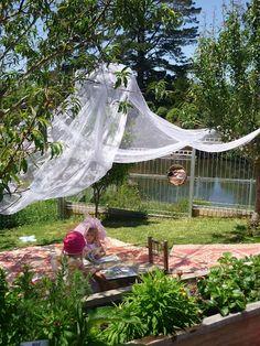 "Quiet area outdoors at M A T A P I H I Kindergarten ("",)"