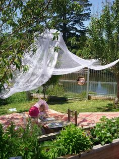 Cozi outdoor reading/gathering area at M A T A P I H I Kindergarten ≈≈