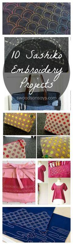 Sashiko Tutorials and DIY Inspiration - ideas for sashiko embroidery.