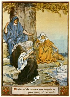 Illustrations from The Heroes of Asgard by C.E. Brock The Norns: Urd, Verdandi and Skuld