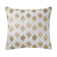 Ink+Ivy Nadia Dot Embroidered 18-inch Cotton Throw Pillow - Overstock Shopping - Great Deals on Ink and Ivy Throw Pillows