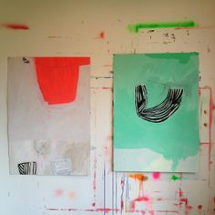 Orange and green- Sarah Boyts Yoder  I love the playfulness, and the element of surprise in her work-AMP
