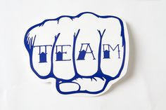 Team Knuckle Tattoo Roller Derby Helmet Vinyl Sticker / Vinyl Decal on Etsy, $4.25