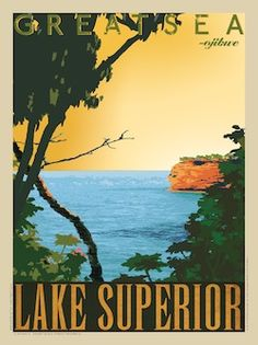 Lake Superior vintage poster - Google Search