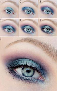 Как правильно красить голубые глаза: секреты макияжа