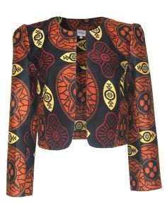 As featured in Vogue, these amazing African print fairly made jackets capture the bold print trend brilliantly.The cropped jacket is th...