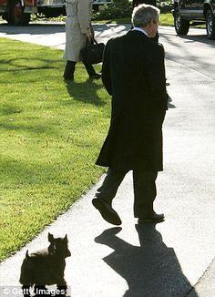 President Bush and his dog Barney.