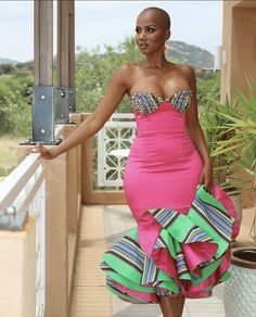 African Inspired Fashion, Latest African Fashion Dresses, African Dresses For Women, African Print Fashion, African Attire, Ankara Fashion, Women's Fashion, Venda Traditional Attire, Traditional Outfits