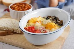 Full English breakfast baked eggs - Amuse Your Bouche