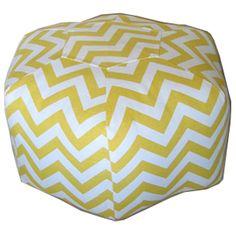 yellow chevron pouf