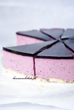 Deser jogurtowo-jagodowy a'la sernik na zimno