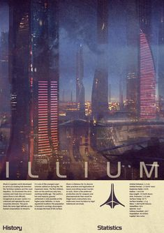 Mass Effect Illium Vintage Poster by Titch-IX.devianta... on deviantART