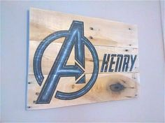 Personalized Super Hero Wooden Plaque Sign by KimballKreations