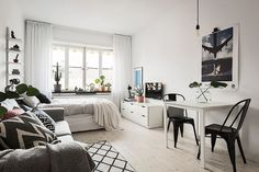 Large size of small studio apartment interior design ideas living home decor apartments and that boost Tiny Studio Apartments, Studio Apartment Design, Apartment Interior Design, Studio Design, Studio Layout, Modern Apartments, Condo Design, Furniture For Small Apartments, White Studio Apartment