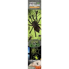 Paper House WA-3002E 2-Pack Sticky Pix Halloween Wall Sticker, Spiders PAPER HOUSE