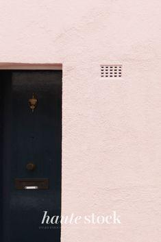 Urban cityscape, lifestyle & travel stock photos for female entrepreneurs from Haute Stock featuring pink wall with black door. #hautestock #lifestyle #stockphotography #blogging #socialmedia #femaleentrepreneur #marketing #businessowner #branding #city #travel #urban #modern Black Doors, Modern City, Pink Walls, Blogging, Travel Photography, Branding, Urban, Stock Photos, Marketing