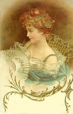 an Edwardian Belle, pretty for Mother's day or Valentine's day..