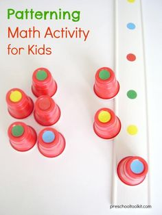 Patterning - math activity for early learners