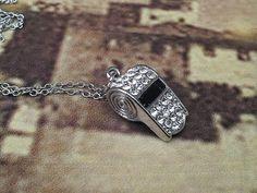 Whistle necklace Estate beautiful rhinestone necklace by GoldDa, $38.00
