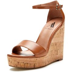 Ava & Aiden Dana Platform Wedge Sandal ($39) ❤ liked on Polyvore featuring shoes, sandals, wedges, zapatos, platform shoes, cushioned sandals, metallic sandals, wedge heel sandals and wedge sandals