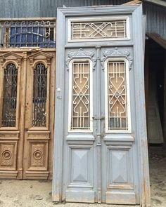 We love the stars above the iron on these antique gray iron doors!