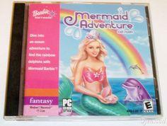 BARBIE MERMAID ADVENTURE WINDOWS PC & MAC CD ROM COMPUTER VIDEO GAME USED 2004