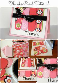 Thanks Card Tutorial from www.summerscraps.com