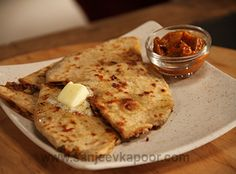 Mixed Vegetable Parantha Recipe - The various vegetables make these paranthas more nutritious.