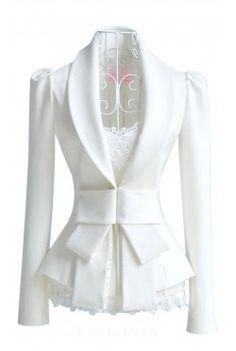 White Slim Suit Coats Jackets