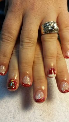My Christmas nails 2013 I love them!  Done by: Nails by Cynthia ♡