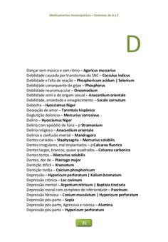 Medicamentos Homeopáticos – Sintomas de A a Z 21 D Dançar sem música e sem ritmo – Agaricus muscarius Debilidade causada p...