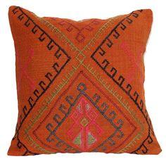 Orange Gypsy Kilim Pillow