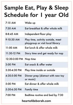 Every child is different, but it's nice to see a sample eat, play and sleep schedule to get an idea! Here is a sample baby schedule for one year old toddler. Sample Menu for One Year Old: What Your Child Should Eat a 1 Year Old Schedule, Baby Schedule, Toddler Schedule, One Year Old Meal Plan, Infant Feeding Schedule, 1 Year Old Food, Toddler Routine, Eating Schedule, One Year Old Baby