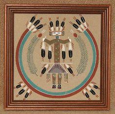 Navajo Indian Sand Art