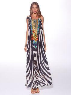 Honey & Beau 'Tanzania' Maxi Dress in Wild Print – Lotus Boutique