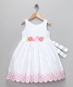 Take a look at this White & Pink Floral Dress - Infant, Toddler & Girls by C'est Chouette on #zulily today!
