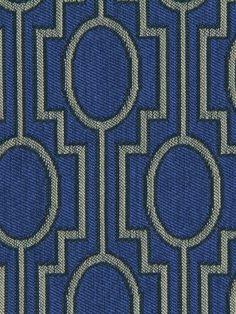 Modern Cobalt Blue Upholstery Fabric by greenapplefabrics on Etsy, $59.00