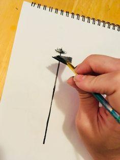 Möchten Sie lernen wie man Bäume malt? Dieses sehr