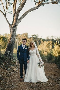 LYNDAL + LUKE // #wedding #bride #groom #ceremony #reception #vintage #carnival #nsw #photographer #realwedding #dress #gown #suit #bowtie #lace #bouquet