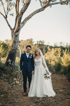 LYNDAL + LUKE // #wedding #bride #groom #ceremony #reception #vintage #carnival #nsw #photographer #realwedding #dress #gown #suit #bowtie #lace #bouquet