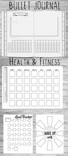 Bullet Journal Health and Fitness by ScatteredPapers1 on Etsy