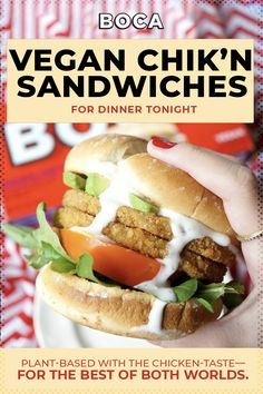Get your taste buds ready for a treat! BOCA's Vegan Chik'n Sandwiches are the delicious plant-based goodness that is convenient for any day or night. Take a bite!