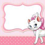 De la Tarjeta del Invitación de marzo y del gatito Marie (Disney):