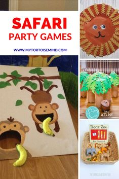 6 party games and activities for a Zoo, Safari or Jungle theme party. Throw a brilliant kid's party or baby shower with a cute Safari, Zoo or Jungle theme. Safari Party, Safari Game, Jungle Theme Parties, First Birthday Party Themes, Jungle Party, 2nd Birthday, Lion King Party, Party Activities, Jungle Activities