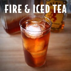 Do you know what's better than iced tea? Iced tea with Fireball in it. Here's how we mix it up: Fire & Iced Tea ounces Fireball Whisky 5 ounces iced tea ounce lemon juice Fireball Mixed Drinks, Fireball Cocktails, Fireball Recipes, Whiskey Recipes, Alcohol Drink Recipes, Fireball Margarita Recipe, Liquor Drinks, Cocktail Drinks, Drink Recipes