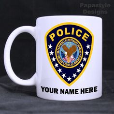 Details about Veterans Affairs Police Badge Personalized Coffee ...